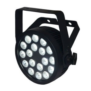 Powercon 18X10W RGBWA 5in1 Slim LED PAR Can Stage Light with Ce and RoHS pictures & photos