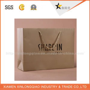 High Quality Custom Design Paper Bag with Ribbon Handle pictures & photos