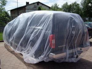 Transparent Plastic Car Cover for Flood