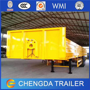 3 Axle 60 Ton Drop Side Semi Trailers for Sale pictures & photos