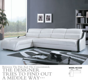Green Color Modern L Shape Leather Sofa (C22) pictures & photos