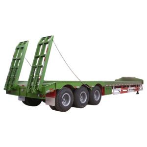 Low Price Low Bed Semi Trailer of 60tons