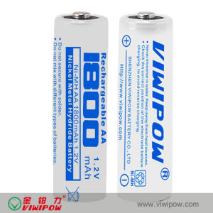 Eco-Friendly NiMH Battery AA Ni-MH Battery with Low Internal Resistance (VIP-AA1800)