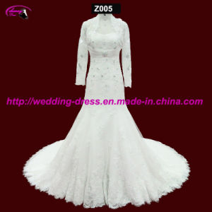 Real Beaded Bridal Wedding Dress with Jacket pictures & photos