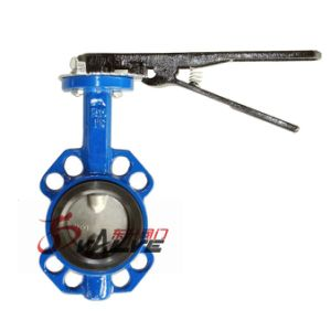 Dn40-Dn600 Wafer Type Butterfly Valve with Pin pictures & photos