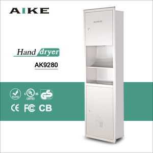 Embedded combination hand dryer with tissue box and dustbin (AK9208) pictures & photos