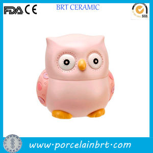 New Design Unique Owl Shaped Ceramic Coin Saving Bank pictures & photos