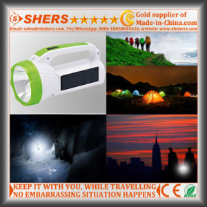Solar 1W LED Torch with COB LED Desk Light (SH-1984) pictures & photos
