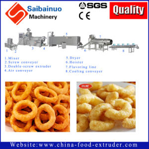 Corn Puff Snacks Food Extruder Making Machine pictures & photos
