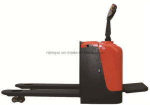 2-3t Full Electric Pallet Truck with Standing Steer Type pictures & photos