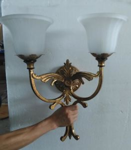 Antique Metal Wall Lamp with Glass Shade (WHW-1225Z) pictures & photos