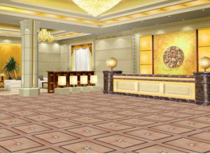 American Red Cherry Parquet Floor for Hotel Lobby pictures & photos