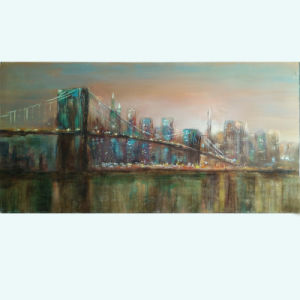 Handmade Building Wall Art Bridge Painting on Canvas (LH-176000) pictures & photos
