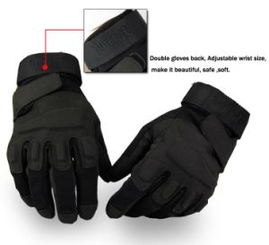 2014 Crazy Selling High Quality Black Tactical Gloves/ Promotion Police Gloves pictures & photos