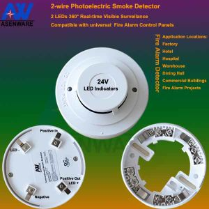 24V 2-Wire Cost-Performance Photoelectric Smoke Detector pictures & photos