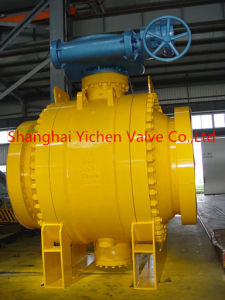 Low Torque Manual Gear Operated Flanged Ball Valve pictures & photos