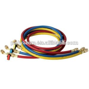 Free Shipping! 3 Color 1/4′′ 800psi-4000psi Premium Refrigerant Freon Charging Filling Hose for R-410A Pr2214 pictures & photos