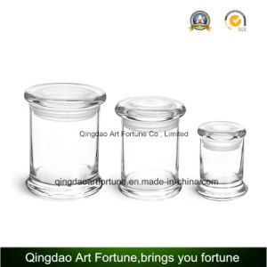 Glass Metro Jar Candle with Flat Glass Lid pictures & photos