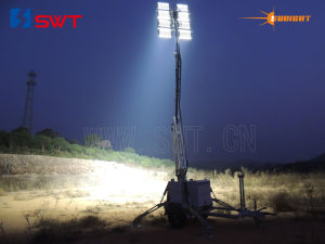Fully Hydraulic Compact Sunight Lighting Tower with Extra Low Votage 2400W LED Lights Kholer pictures & photos
