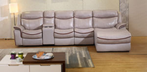 L Shape Recliner Sofa, Modern Leather Sofa, Living Room Furniture (G379) pictures & photos