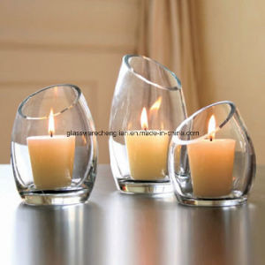 Crystal Clear Glass Candle Holder (ZT-100) pictures & photos