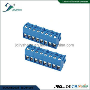 Horizontal Screw Terminal Blocks Pitch 5.0mm 8p 10A with Blue Housing pictures & photos