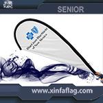 Custom Cheap Teardrop Beach Flag Display for Sale pictures & photos