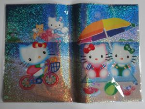 Slef-Adhesive Book Cover Kitty at Beach Design pictures & photos