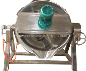 500 L Stainless Steel Large Jacketed Steam Kettle pictures & photos