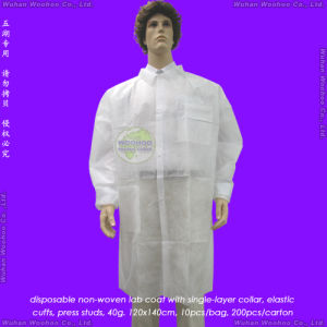 Disposable Non Woven Lab Coat, Disposable Nonwoven Laboratory Coat pictures & photos