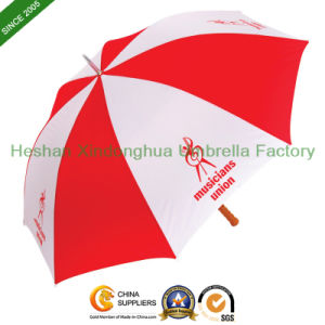 Cheap Zinc Customized Golf Umbrella with Wooden Handle (GOL-0027Z) pictures & photos
