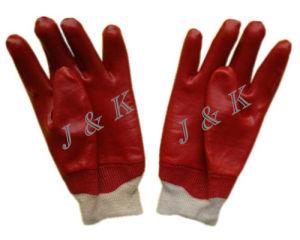 Red PVC Safety Gloves PVC Glove Safety Glove Work Glove pictures & photos