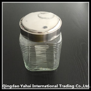 1350ml Clear Victorian Square Jars for Storage Food pictures & photos
