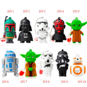 USB Flash Drive USB Stick Wholesale Cartoon Star Wars Series Pendrives Flash Card Memory Stick USB Flash Disk Thumb Drive USB 2.0 pictures & photos