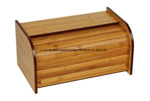 Custom Handmade Natural Wooden & Bamboo Bread Bin