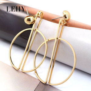 Fashion Gold-Tone Jewellery Stainless Steel Sun Moon Custom Drop Earrings pictures & photos