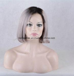 Shorthuman Hair Blond Omber Color Silk Top Women Wig Full Lace Wigs pictures & photos
