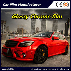 Red Glossy Chrome Film Car Vinyl Wrap Vinyl Film for Car Wrapping Car Wrap Vinyl pictures & photos
