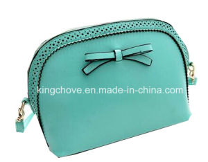 Green PU with Punching and Knot Fashion Ladies Bag (KCH84-02) pictures & photos