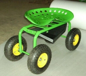 Garden Tool Cart for Sitting with Pneumatic Wheel Tc4501 pictures & photos