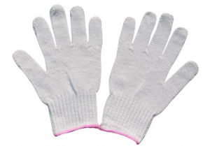 Unbleached White Knitted Cotton Gloves 50g pictures & photos