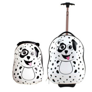 Baby Item Dalmatian Baby/Kids Backpack and Trolley Luggage on Wheels for Traveling