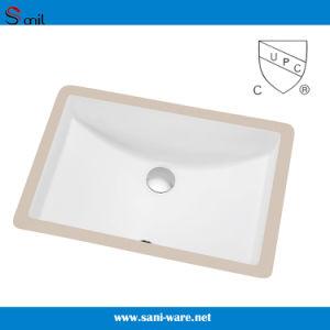 Cupc Certificate Rectangular Undermount Ceramic Bathroom Sink (SN017) pictures & photos