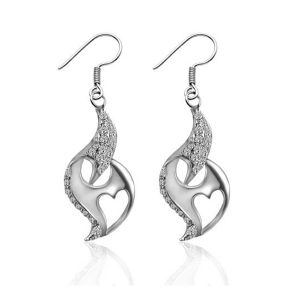 Classic Fashion Earrings Silver Wedding