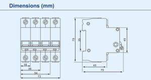 Std1 LV Air Miniature Mini Circuit Breaker 125A pictures & photos