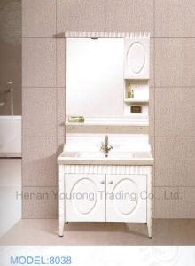 Solid Wood Bathroom Cabinet with Mirror (No. 8038)