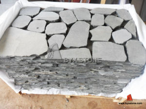 Grey Basalt Crazy Granite Garden Cobblestone for Outdoor pictures & photos