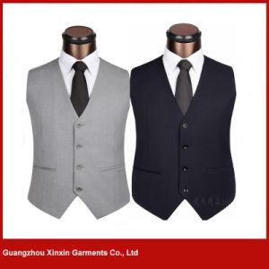 Personalized Fashion Sleeveless Work Uniform design Vest for Waiter (V31) pictures & photos