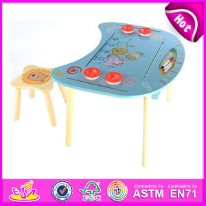 2014 Wooden Table and Chair for Kids, Study Wooden Table and Chair Set for Children, Hot Sale Wooden Table and Chairs Toy W08g127 pictures & photos