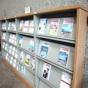 Library Magazine Shelves/Shelves to Display Books/Bookshelf/Bookcase/Book Shelf pictures & photos